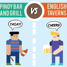 Pinoy Bar and Grill and English Taverns: What's the diff?