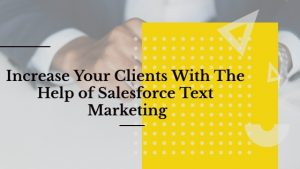 Increase your clients with the help of Salesforce Text Marketing