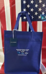 Blue Grocery Tote