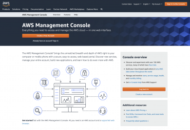 AWS Management Console : an overivew of Amazon Web Services